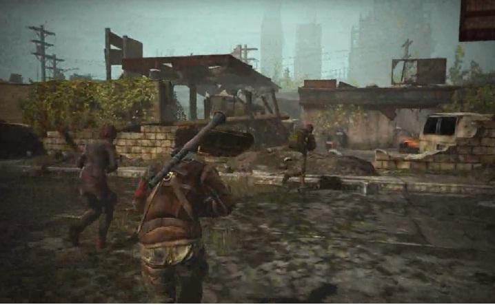 Aquí John Connor y amigos avanzando hasta la siguiente zona en donde vean una pequeña intro y luego aparezcan enemigos.
