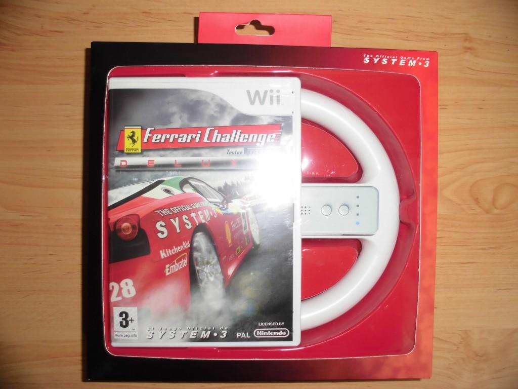 Pack Ferrari Challenge con volante para Wii