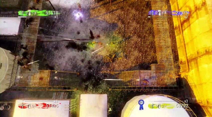 Dead Ops Arcade, un buen extra. Vista desde arriba y disparos con el champiñón derecho.