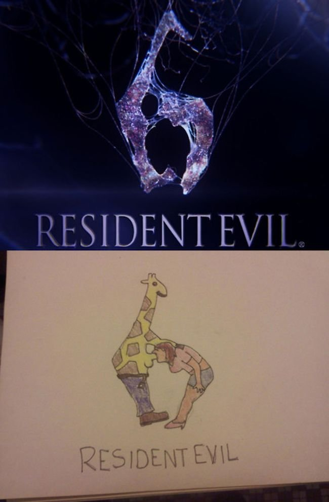 Comparativa logo RE6